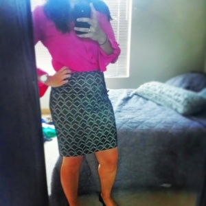 Work Outfit...fun pink